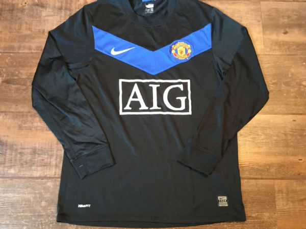 2009 2010 Manchester United  L/s Away Football Shirt Adults Small